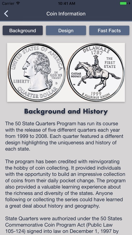 State Quarters - Coin Guide & Collection Tracker