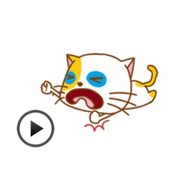 Playful Cat Animated Sticker