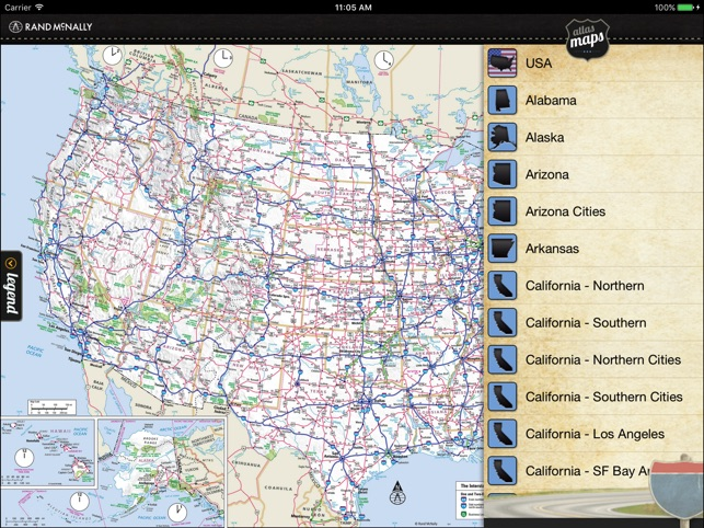 Rand mcnally road atlas on the app store gumiabroncs Images