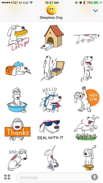 Sleepless Dog Stickers screenshot-4