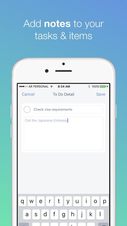 The Packing List App screenshot-3