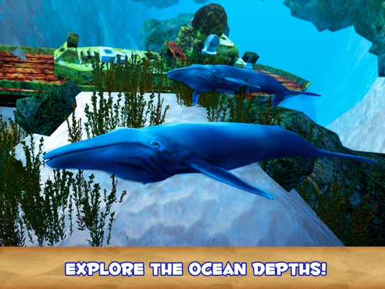 Blue Whale Undewater Survival Simulator 3D-ipad-1