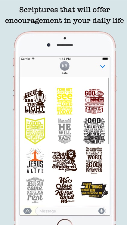 Bible Quotes Stickers For iMessage