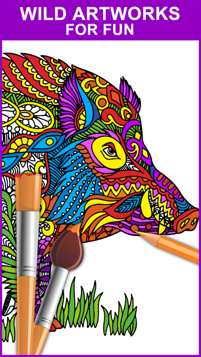 Color Mix - Adult Coloring Books screenshot one