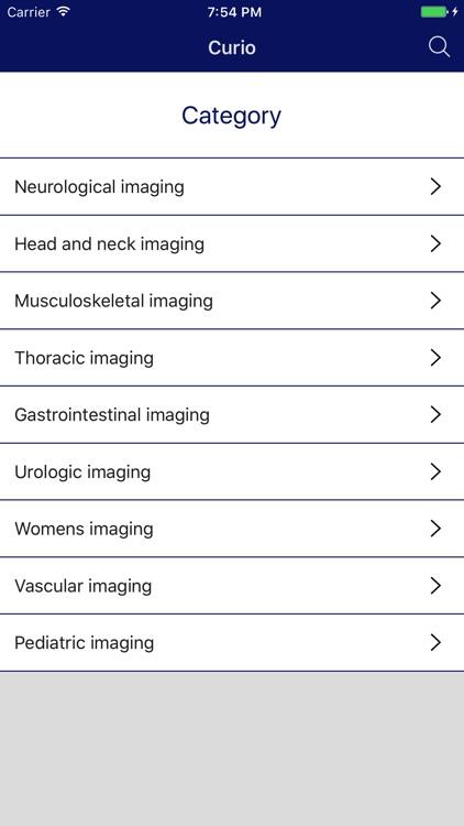 Curio Diagnostic Imaging Selection Guide