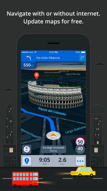 Sygic Europe: GPS Navigation, TomTom Offline Maps screenshot-3