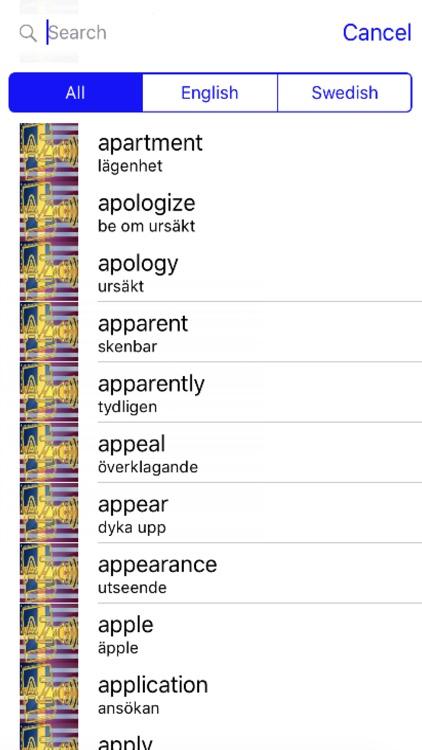 Swedish Dictionary GoldEdition screenshot-3