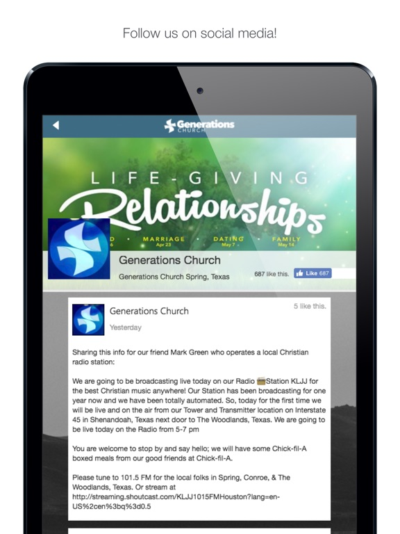 Image of Generations Church Spring for iPad