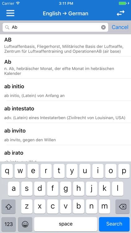 English German Dictionary Offline & Pronunciation