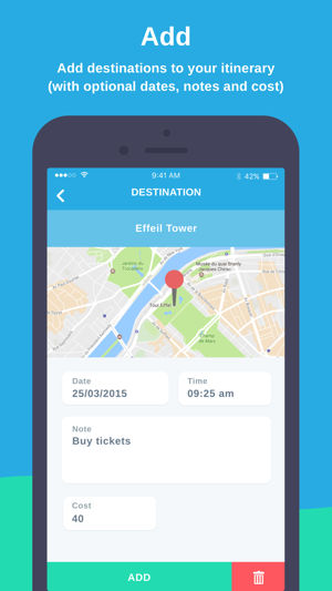 map my itinerary simple travel organiser on the app store