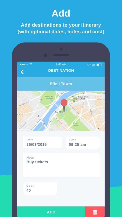 Map My Itinerary - Simple Travel Organiser by Dylan Westbury Map My Travel Destinations on my travel group, my travel holidays, my travel itinerary, my travel agent, my travel health, my travel history,