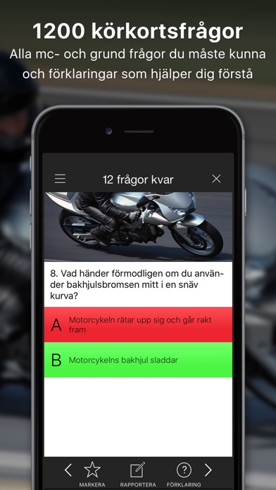 iKörkort MC Screenshots