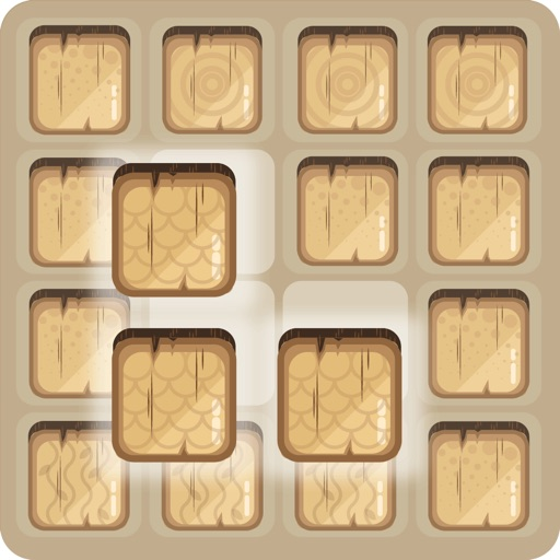 Wooden Block Spiral Nightgate - two dots word YAWG iOS App