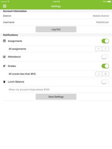 Infinite Campus Mobile Portal screenshot 2