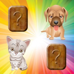 Match Game for Toddlers & Kids with Puppies & Cats