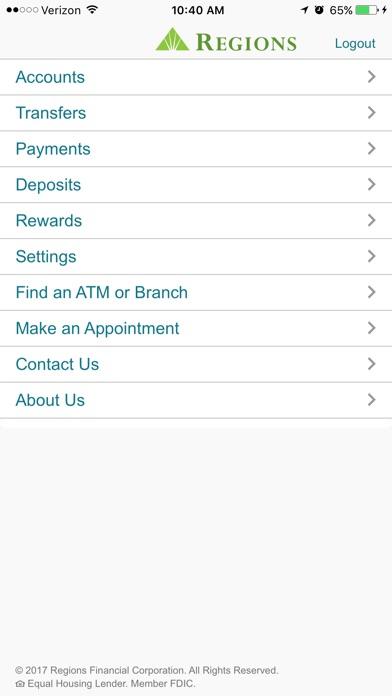 Regions Mobile review screenshots