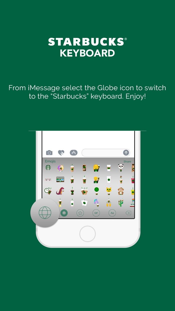 Starbucks Keyboard Screenshot