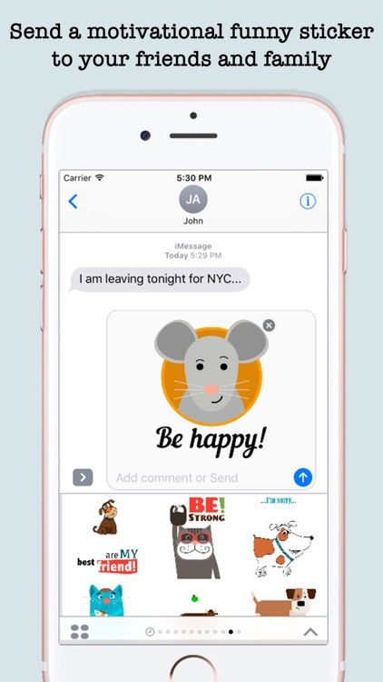 Funny Quotes Inspiration For iMessage screenshot-3
