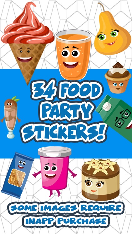Food Party Celebration Stickers