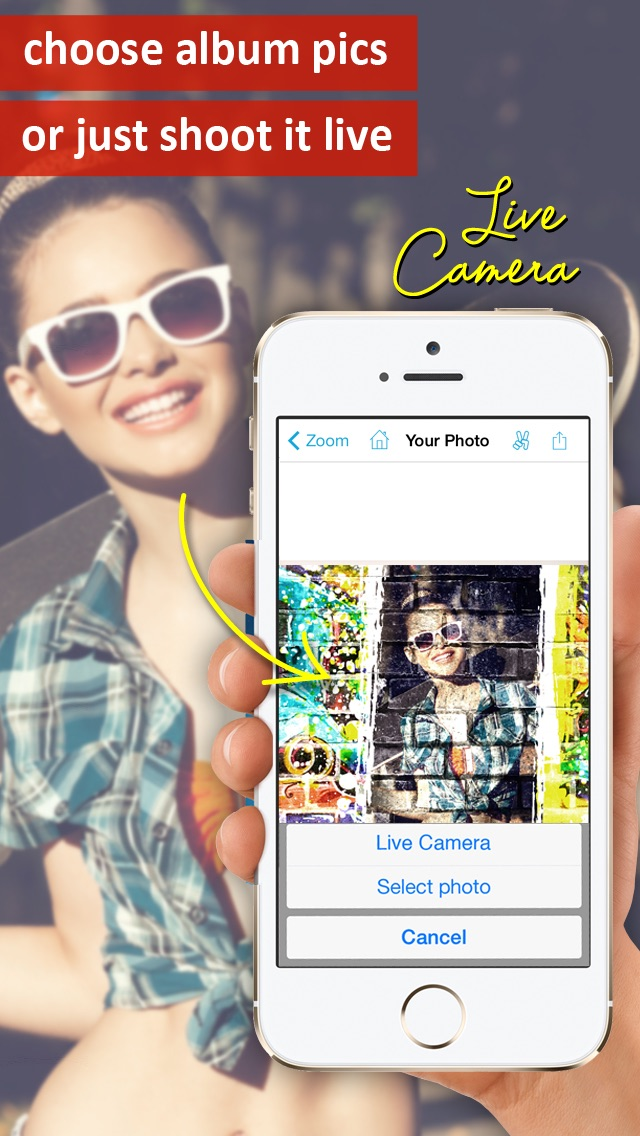 Screenshot for Photo2Fun HD - le montage photo facile in Lebanon App Store