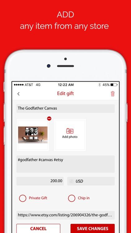 GiftBuster: Wish List Registry & Shopping List App screenshot-3