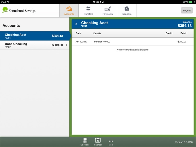 Kennebunk Savings Mobile for iPad