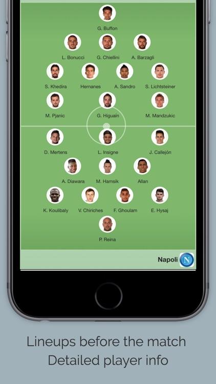 Live Scores for Napoli