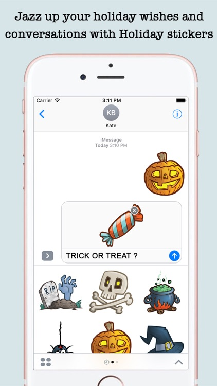 Animated Holidays Sticker Pack For iMessage