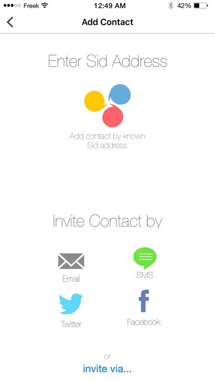 Sid - Secure Communication screenshot-3