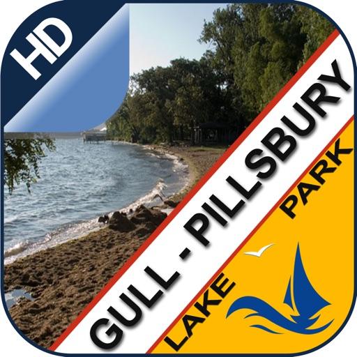 Gull Lake - Pilsbury offline chart for lake & park