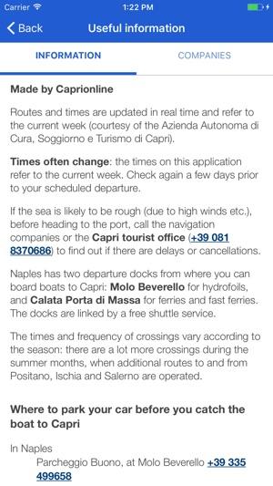 Capri Schedule im App Store