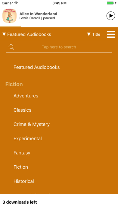 点击获取Five Audiobooks - Enjoy Audio Classics on the go!