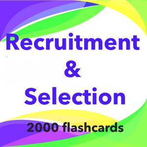 Recruitment  & Selection- 2000 Study Notes & Quiz app