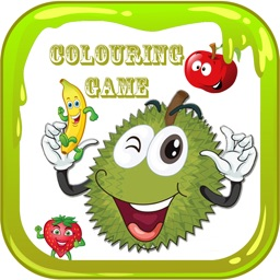 Mix Delicious Fruit Salad Durian Colouring Books