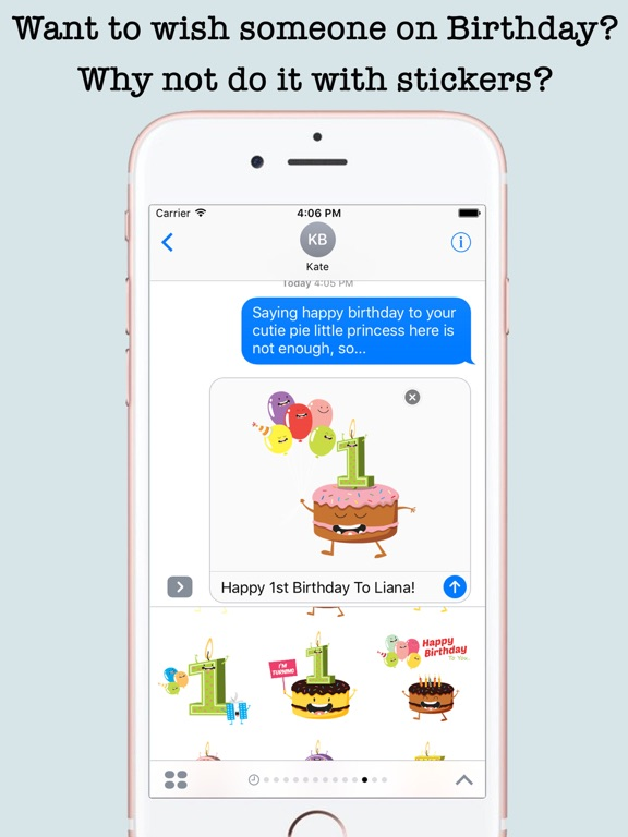 Screenshot 2 For Birthday Wishes Cakes Candles Emojis