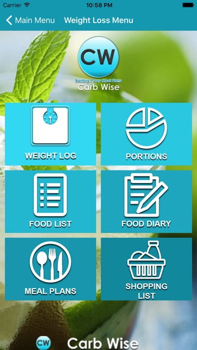 Screenshot for Carb Wise in Singapore App Store