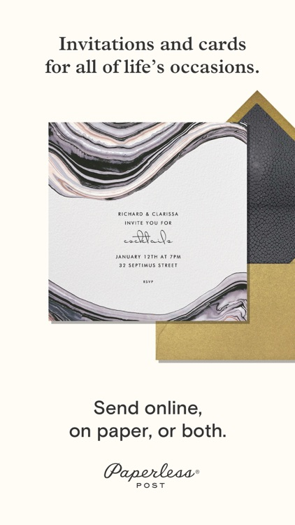 Paperless Post: Invitations and eCards
