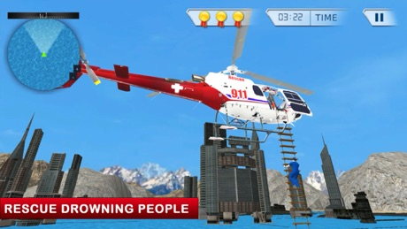 911 Ambulance Rescue Helicopter Simulator 3D Game