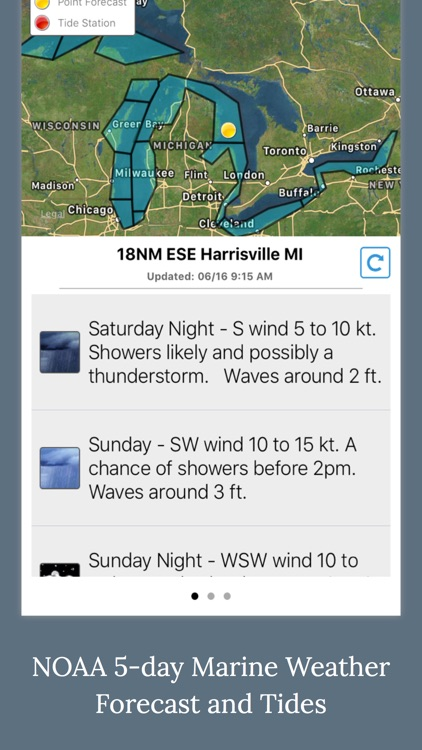 Fishing Weather - NOAA Wave, Tide & Wind Forecast