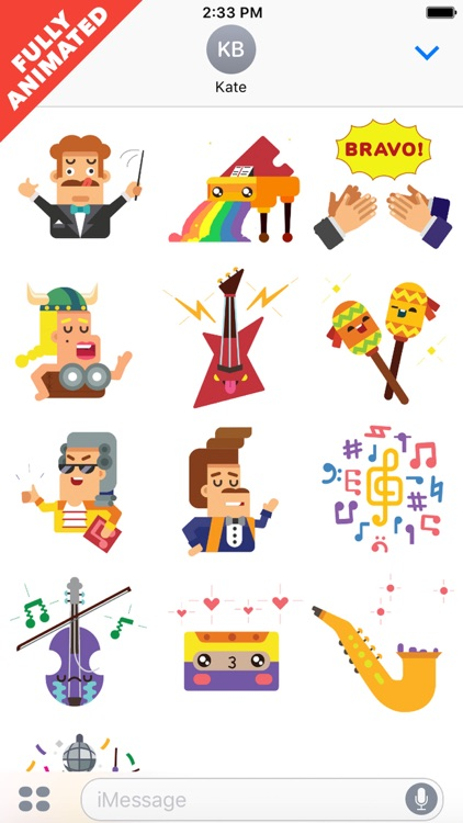MusicLuv - Animated Music Stickers