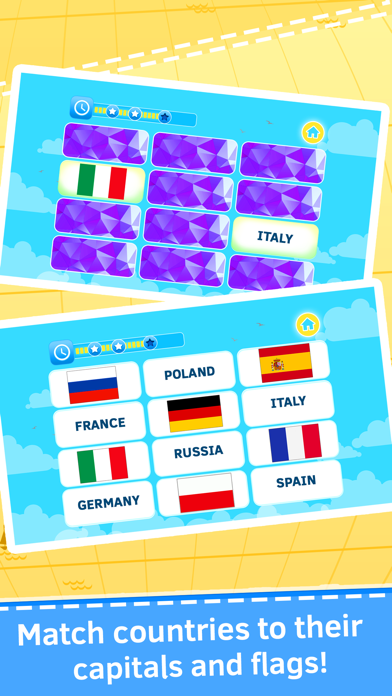 Geography quiz world countries, flags and capitals screenshot one