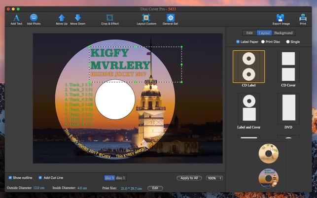 423603eca3b0 CD DVD Cover Pro - Disc Label Lite on the Mac App Store