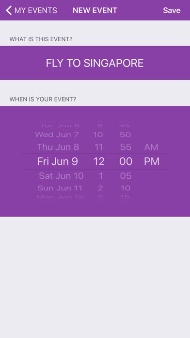 Countdown To Event screenshot four