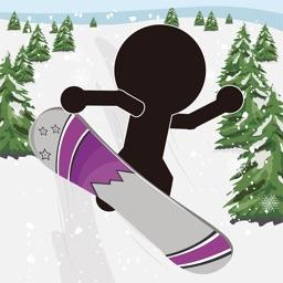 棒人間がスノーボード-超爽快滑り-