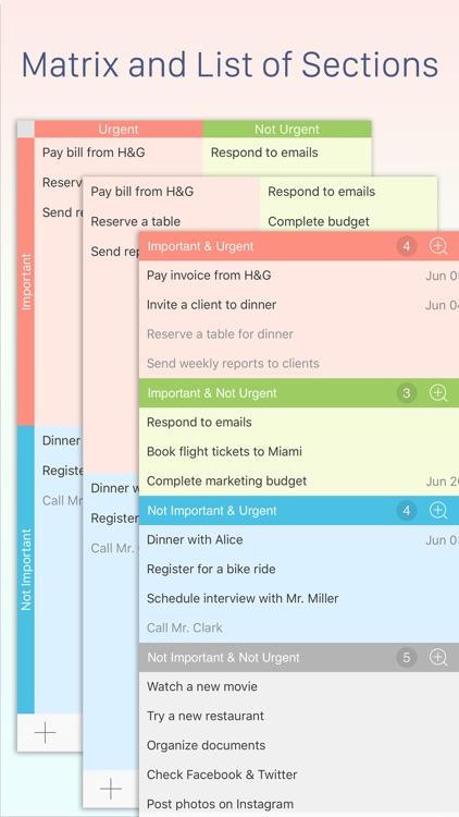 Focus Matrix – Task Manager and Eisenhower Box