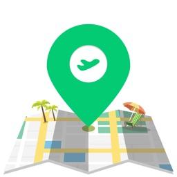 全球旅游地图-帮自由行的你定位周边吃喝玩乐