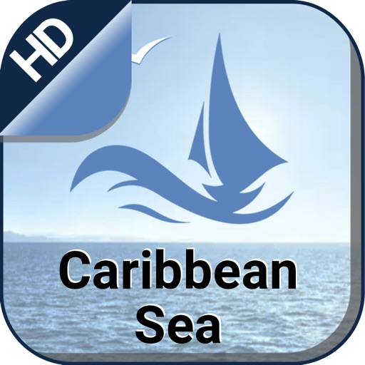 Caribbean Sea offline nautical charts for fishing