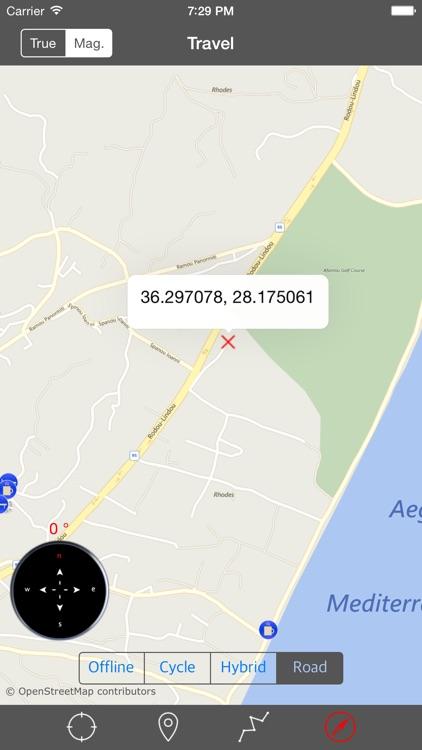 RHODES (GREECE) ISLAND – Travel Map Navigator screenshot-3