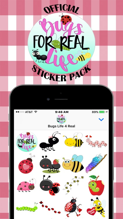 Bugs Life For Real Stickers