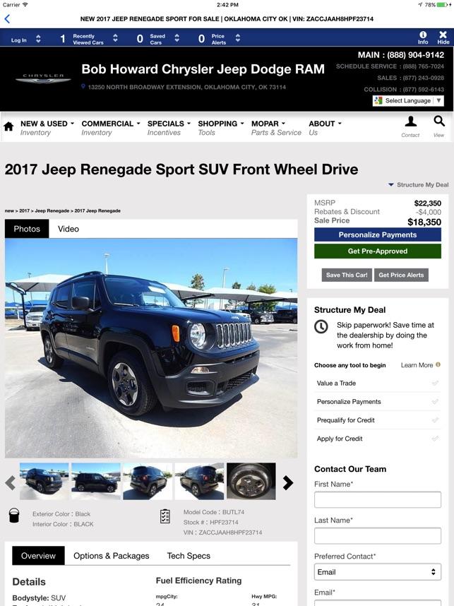 Bob Howard Chrysler Jeep Dodge RAM On The App Store